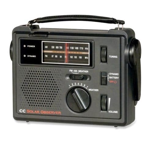 C Crane CC Solar Observer AM/FM/Weather Windup Emergency Radio