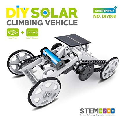 STEM 4WD car DIY Climbing Vehicle Motor car Educational Solar Powered car Engineering car for Kids,Assembly Gift Toy Circuit Building Projects Science Experiment,Building Toys