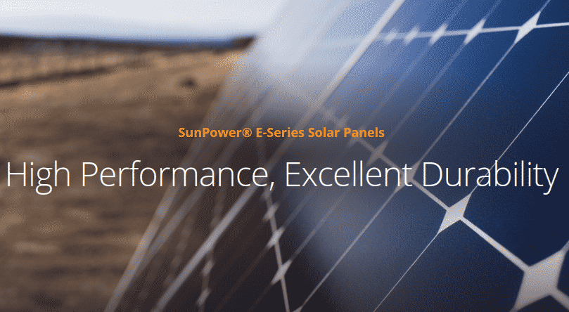 SunPower E-series solar panels