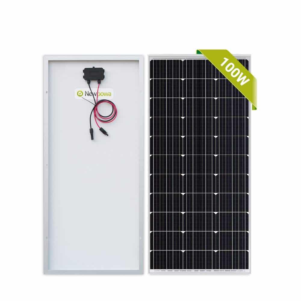 Newpowa 100 Watt Monocrystalline 12 V Solar Panel
