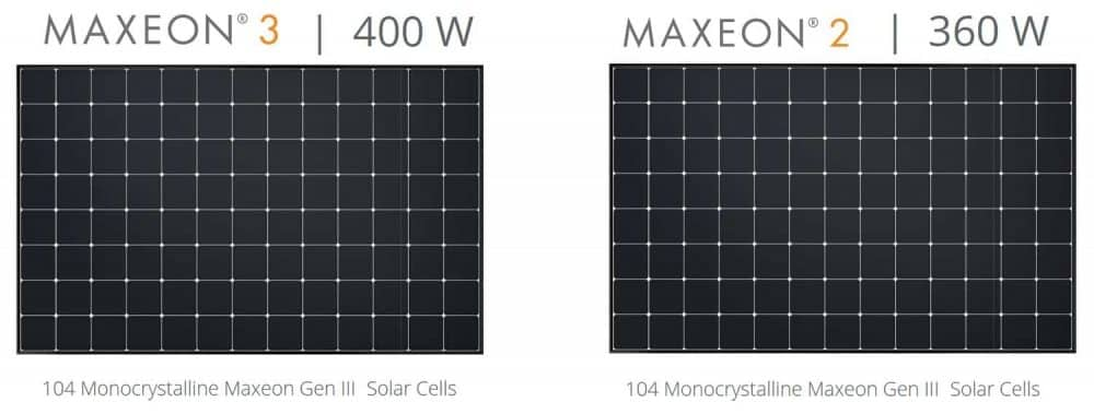 Maxeon 2 & Maxeon 3 - Latest 104 cell format