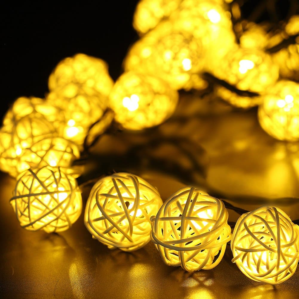 GDEALER Waterproof Solar Outdoor String Lights 30 LED
