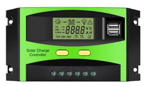 Mohoo 30 A PWM Solar Charge Controller with dual USB port