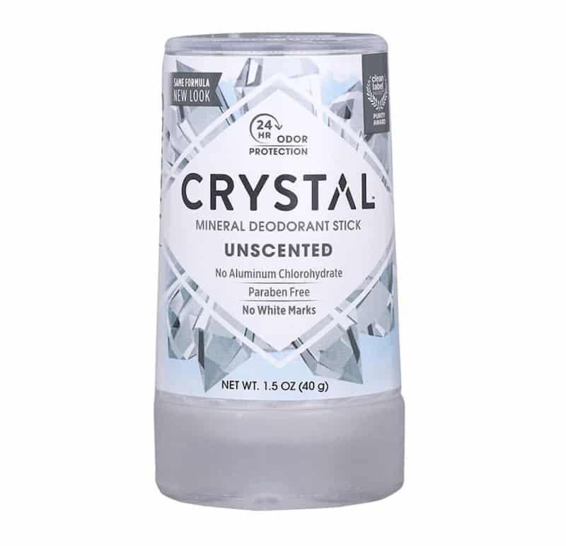 Crystal mineral zero waste deodorant stick