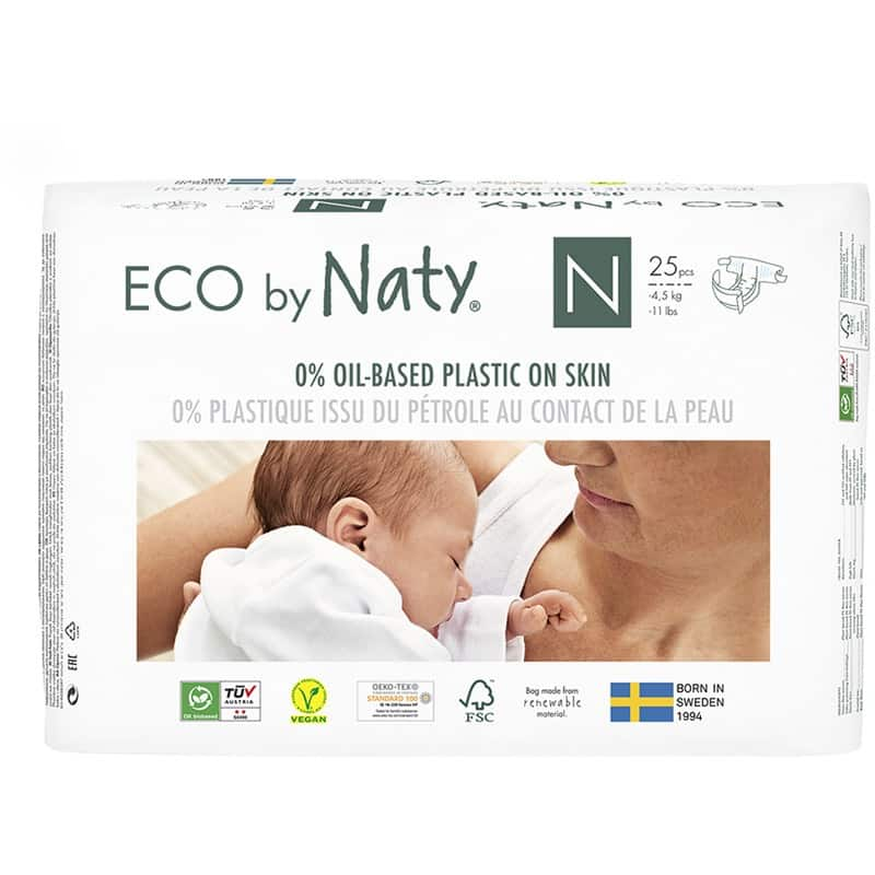 Eco By Naty biobased newborn eco-friendly diapers