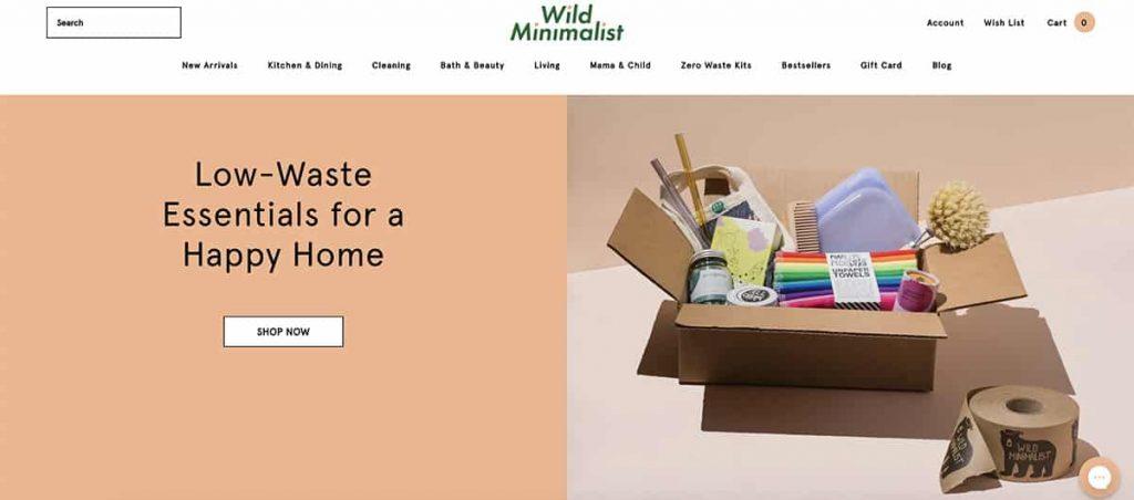 Wild Minimalist zero waste store
