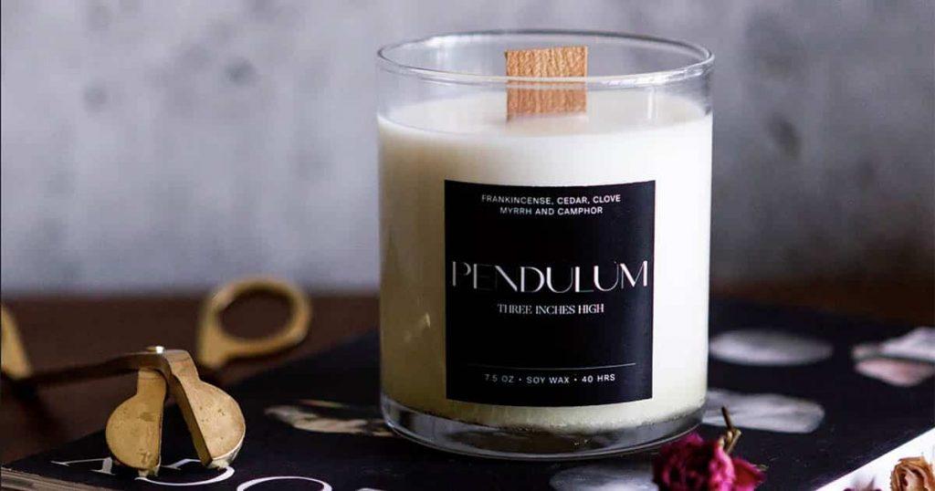 Three Inches High Pendulum candle