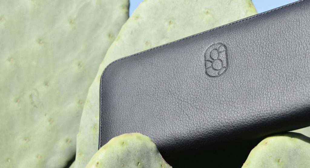 a wallet made of cactus leather