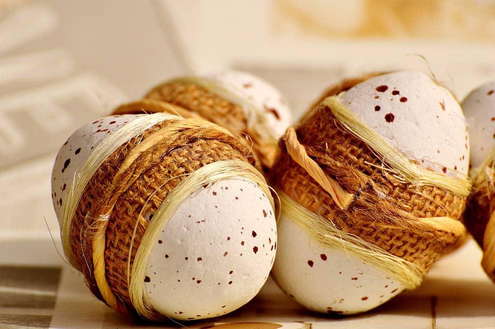Eggs decore made of Styrofoam