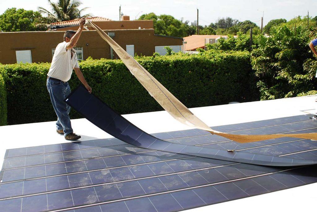 Thin Film Solar PV Installation