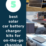 best solar car battery charger kits