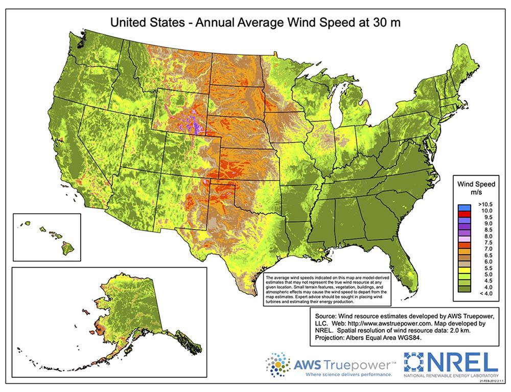 US windmap